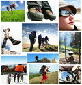 People in hike Royalty Free Stock Photo