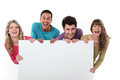 People holding a message board Royalty Free Stock Image