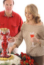 People at a holiday party Stock Images