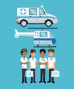 People hospital ambulance helicopter