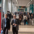 People at host in milan italy october visit international exhibition of the hospitality industry on october Stock Images
