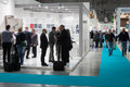 People at host in milan italy october visit international exhibition of the hospitality industry on october Stock Photos