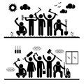 People Humanity Volunteer Pictograms Royalty Free Stock Photography