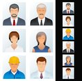 People Icon. Avatars of Various People Occupations Royalty Free Stock Photo