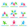 People icon and logo design Stock Photo