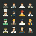 People icon professions icons worker set eps vector format Royalty Free Stock Image