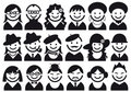People  icon set Royalty Free Stock Image
