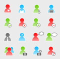 People icon set on gray background Royalty Free Stock Photos