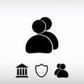 People icon, vector illustration. Flat design style
