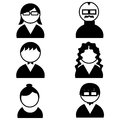 People icons abstract different on white background Stock Image