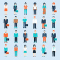 People icons business man situations web template Royalty Free Stock Photo