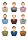 People icons businessman vector illustration of a business set Stock Image