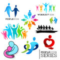 People icons human touch a collection of connected vector set Stock Photo