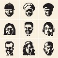 People icons. Occupations. Professions. Royalty Free Stock Photo