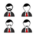 People icons over white background vector illustration Stock Photo