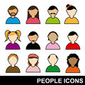 People icons over white background vector illustration Royalty Free Stock Images