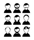 People icons over white background vector illustration Stock Images