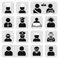 People icons set Stock Images