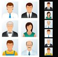 People Icons Set. Various Business Peoples. Royalty Free Stock Photo