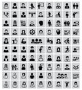People icons vector black set on white Stock Photography