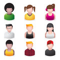 People Icons - Youngster Stock Image