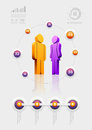 People infographic design template vector elements are layered separately in vector file Royalty Free Stock Images