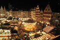 People join in Christmas market in Frankfurt Stock Photography