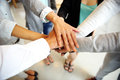 People joining hands Royalty Free Stock Photo