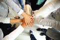 People joining hands a business Stock Photo