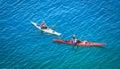 people kayaking on Cyprus lake at Bruce peninsula, Ontario