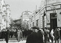 People in kislovodsk soviet union crowd of the street of north caucasus Stock Photography