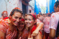 People in la tomatina festival bunol spain august august bunol spain where are fighting with Stock Photos