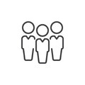 People, leadership line icon, outline vector sign, linear style pictogram isolated on white.
