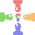 People light bulb idea puzzles