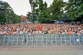 People listen to concert of chaif rock band moscow jun during vii traditional festival live sound music summer in hermitage Royalty Free Stock Photography