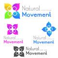 People logo dance concept symbol illustration Stock Photo
