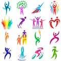 People logo sport vector fitness logotype sportsman winner and competition icons illustration isolated people silhouette Royalty Free Stock Photo