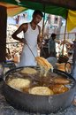 People making Pheni a sweet dish for Roza IftarBreaking the fast Royalty Free Stock Photo