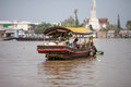 People of mekong delta cai be vietnam district tien giang province town floating market south local at the market on Royalty Free Stock Image