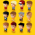 People men isometric set vector illustrator Royalty Free Stock Images