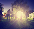 People mingling at a free concert Royalty Free Stock Photo