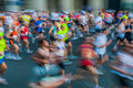 People in motion blur paris marathon franc Stock Photography