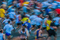 People in motion blur paris marathon france Stock Photography