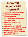 People motivation how to motivate into doing a great job Royalty Free Stock Photo