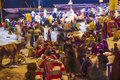 People in the night in Varanasi Royalty Free Stock Photography