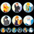 People Occupation Icons. Isometric Vector Graphics Royalty Free Stock Images