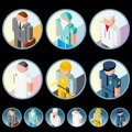People Occupation Icons. Isometric Vector Images Royalty Free Stock Photos