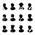 People occupations icons Royalty Free Stock Photo