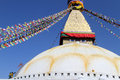 People paint stupa bodnath in kathmandu nepal Royalty Free Stock Photo