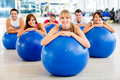 People in a Pilates class Royalty Free Stock Image
